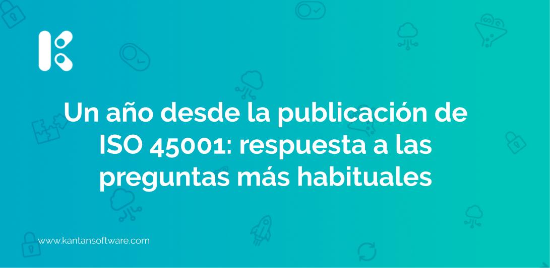 publicación de ISO 45001