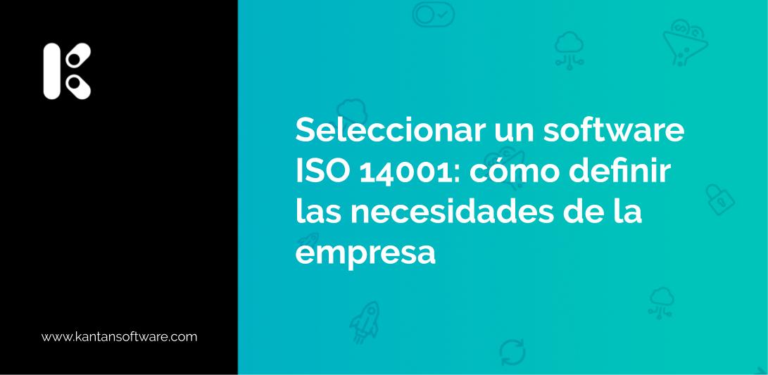 Seleccionar un software ISO 14001